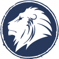 Liberty Accounts lion head mobile logo